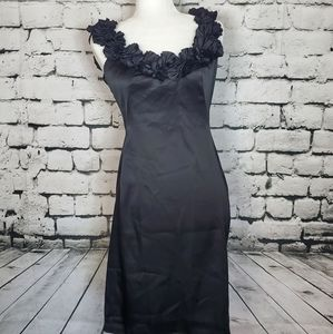 London Times Ruffled Shoulder Dress